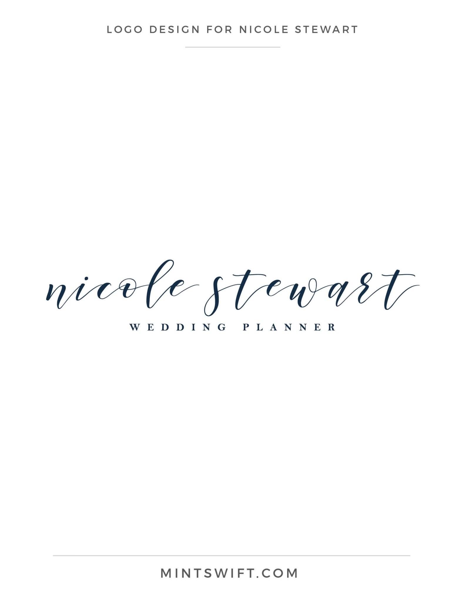 Nicole Stewart - Logo Design - Brand Design Package - MintSwift