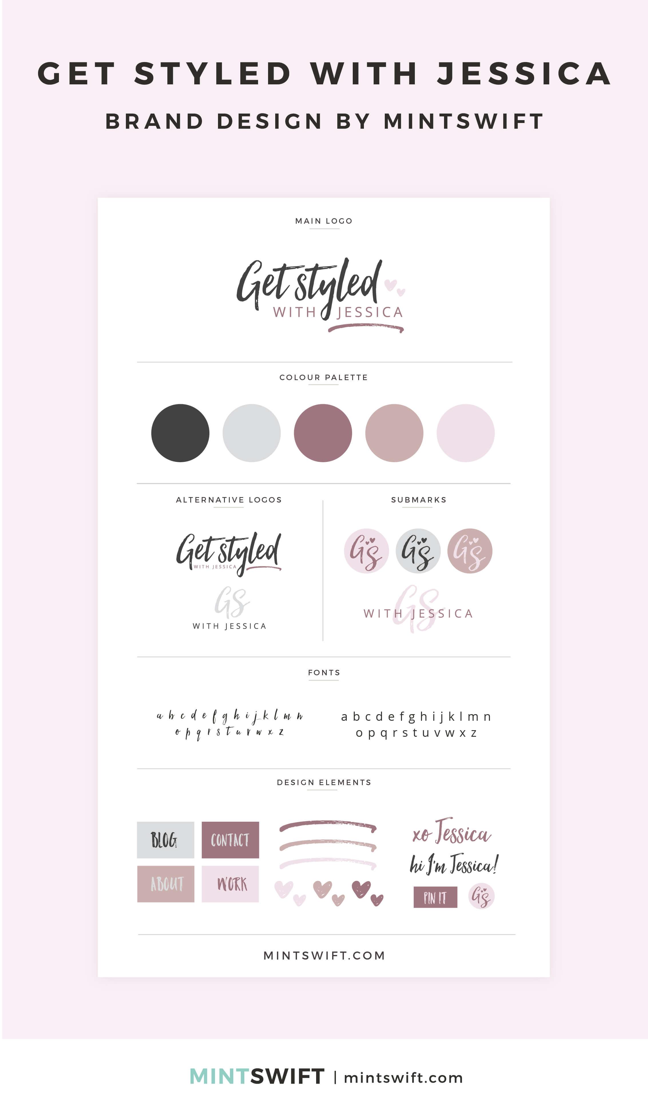 Get Styled with Jessica - Brand Design - MintSwift - Adrianna Leszczynska