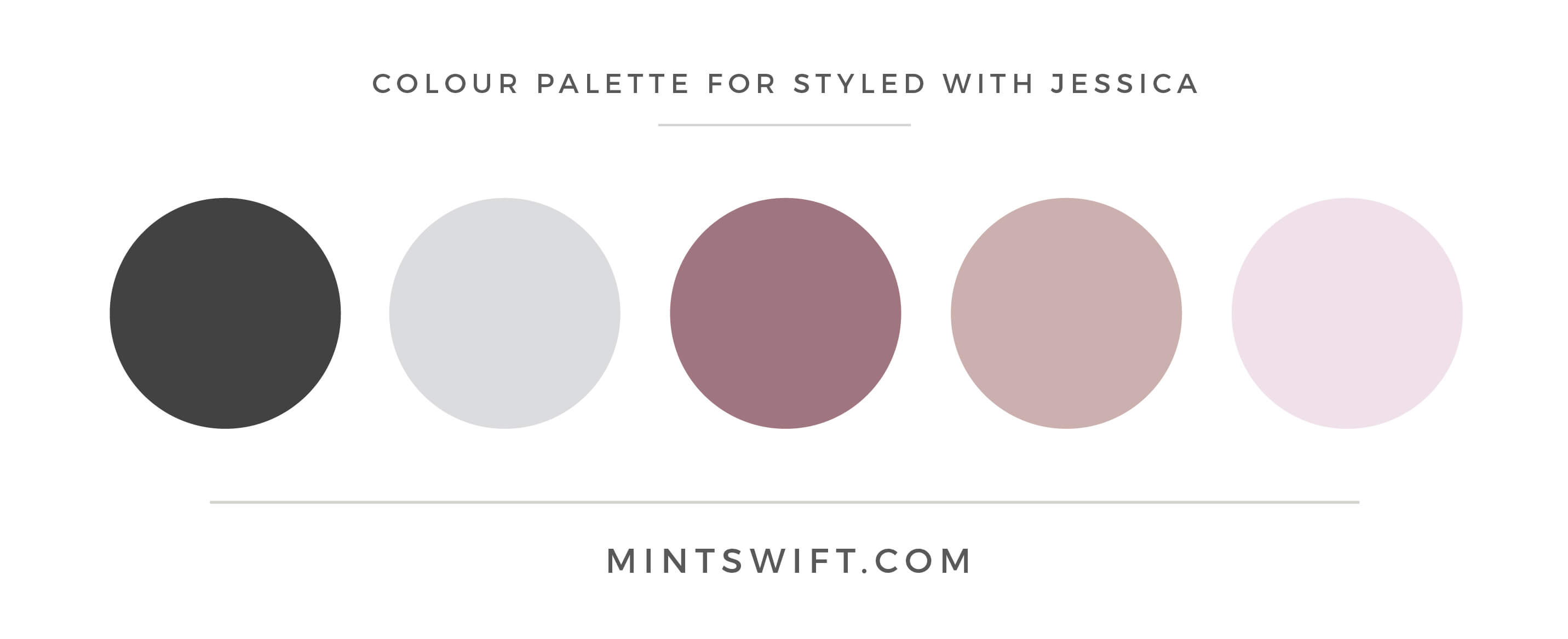 Get Styled with Jessica - Colour Palette - Brand Design Package - MintSwift
