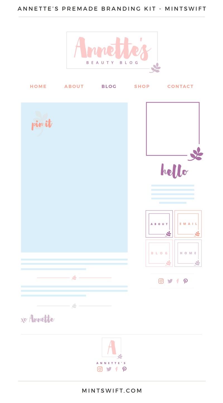 Annette's Premade Branding, Website & Blog Design Kit – MintSwift
