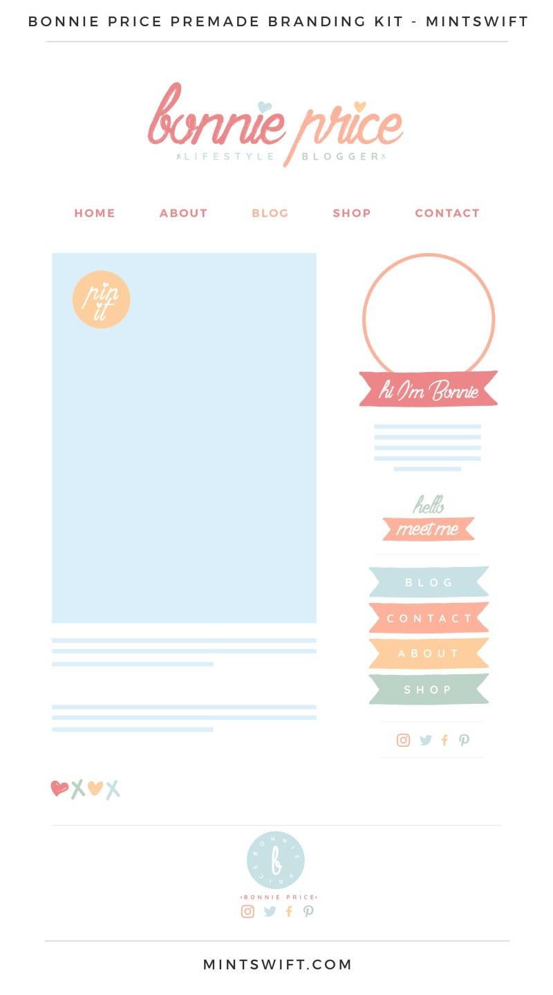 Bonnie Price Premade Branding, Website & Blog Design Kit – MintSwift