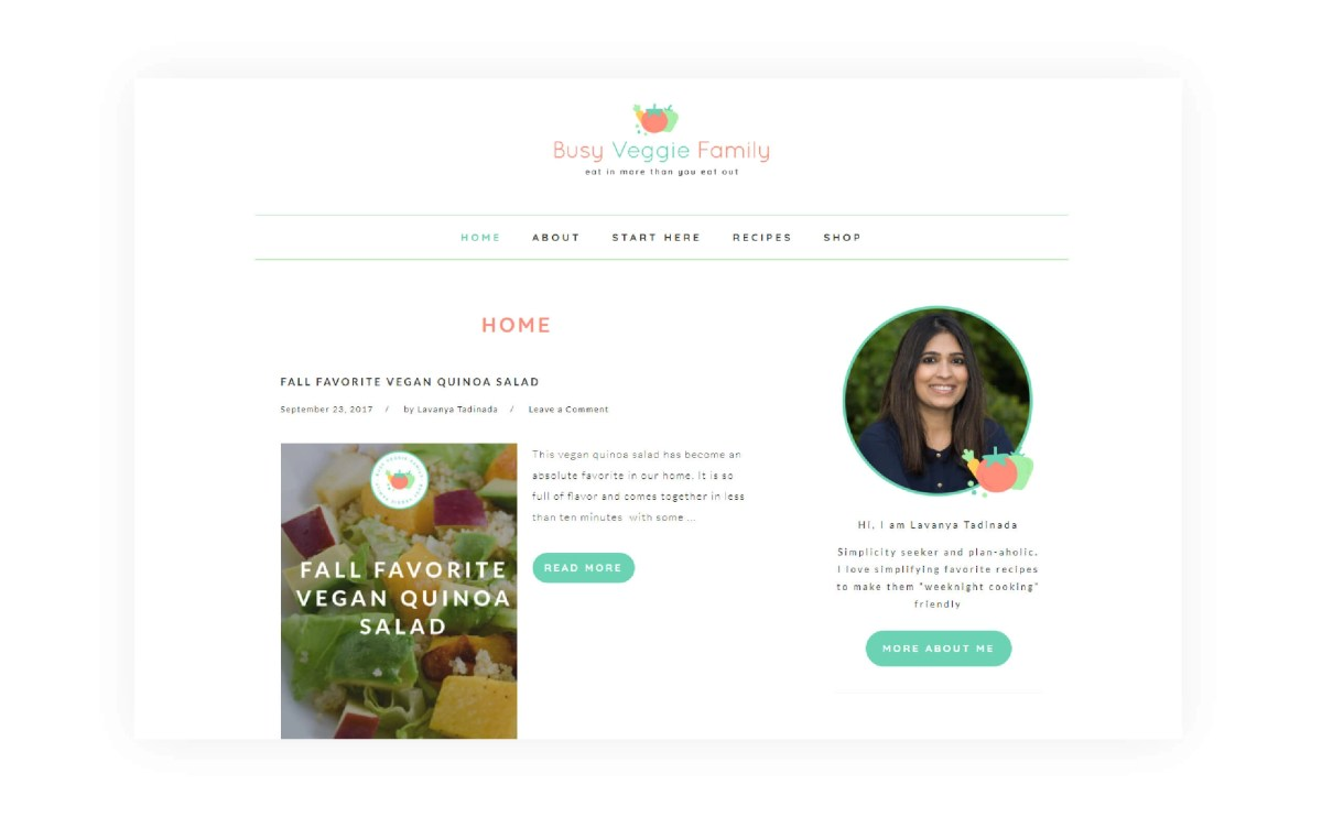 Busy Veggie Family - Home Blog Page - MintSwift