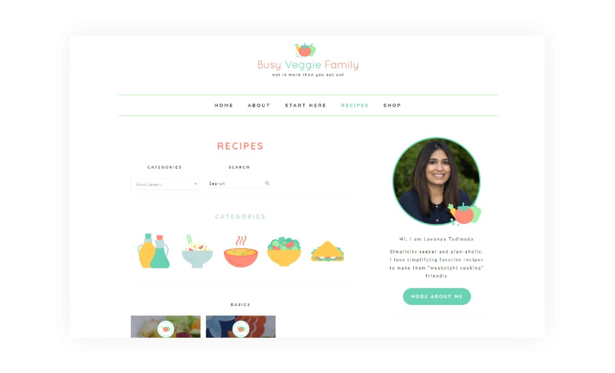 Busy Veggie Family - Recipe Index Page - MintSwift