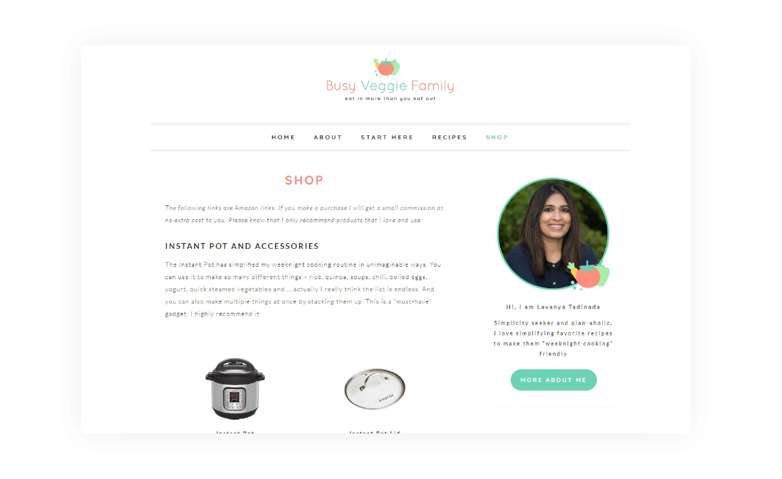 Brand Website Design For Busy Veggie Family Mintswift
