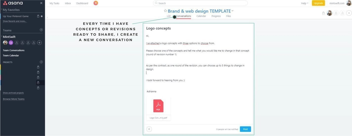 How I Use Asana To Manage My Brand & Web Design Packages. Behind