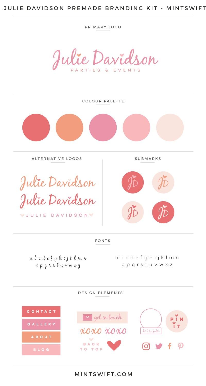 Julie Davidson Premade Branding Kit