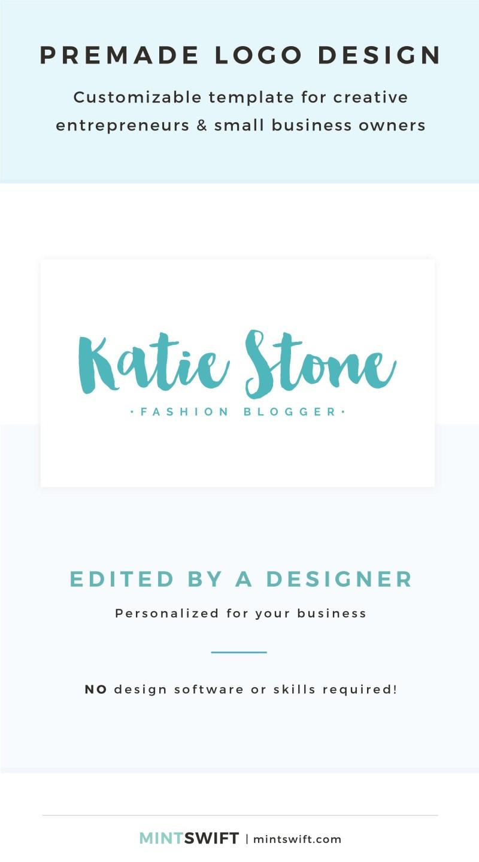 Katie Stone Premade Logo