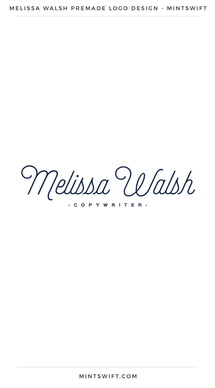 Melissa Walsh Premade Logo – MintSwift