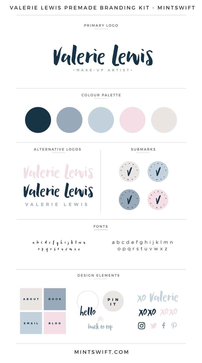 Valerie Lewis Premade Branding Kit – MintSwift