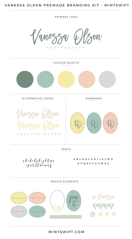 Vanessa Olson Premade Branding Kit – MintSwift