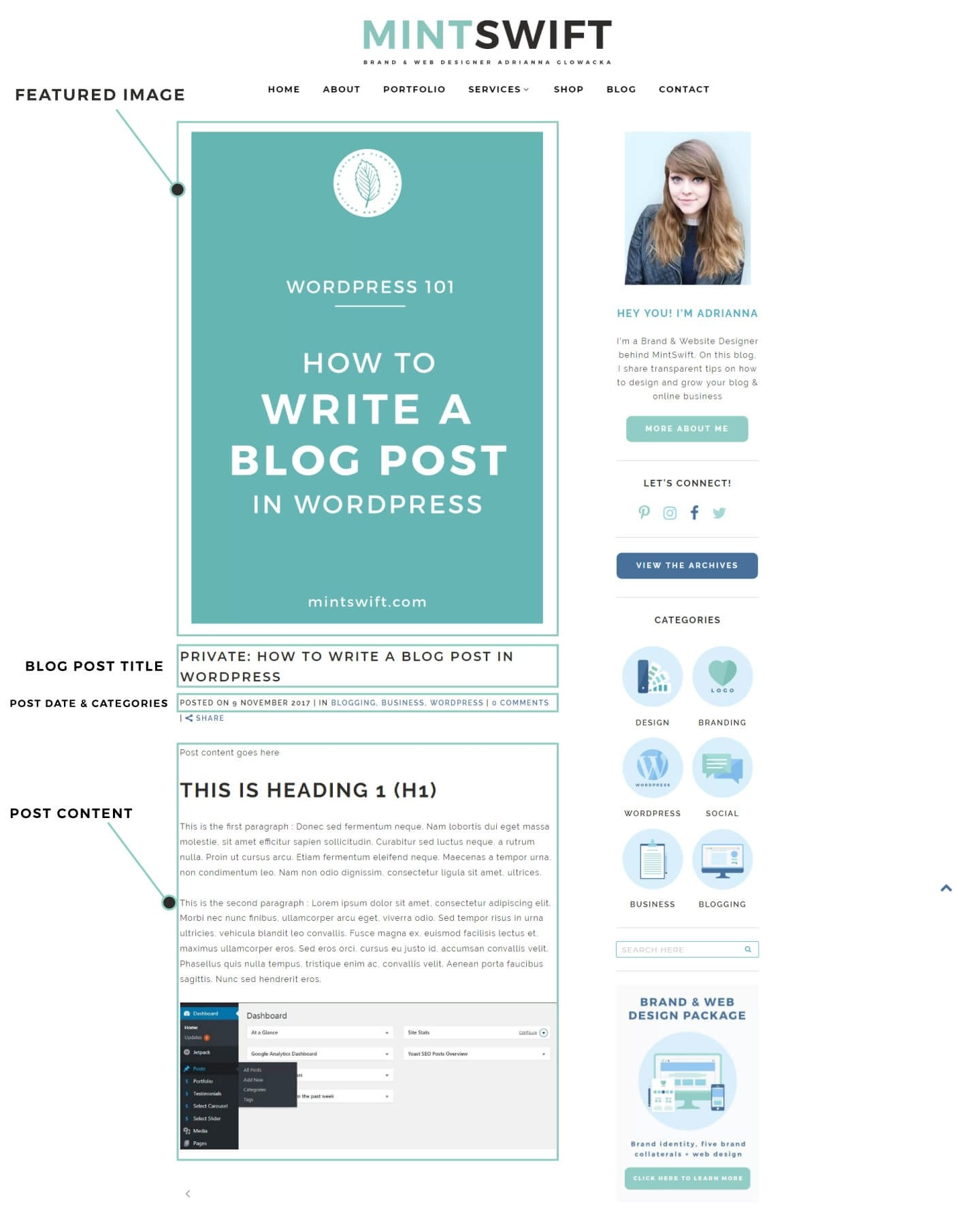 Blog Post example - How to Write a Blog Post in WordPress – MintSwift