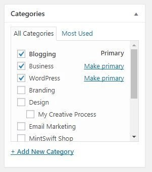 Categories - How to Write a Blog Post in WordPress – MintSwift