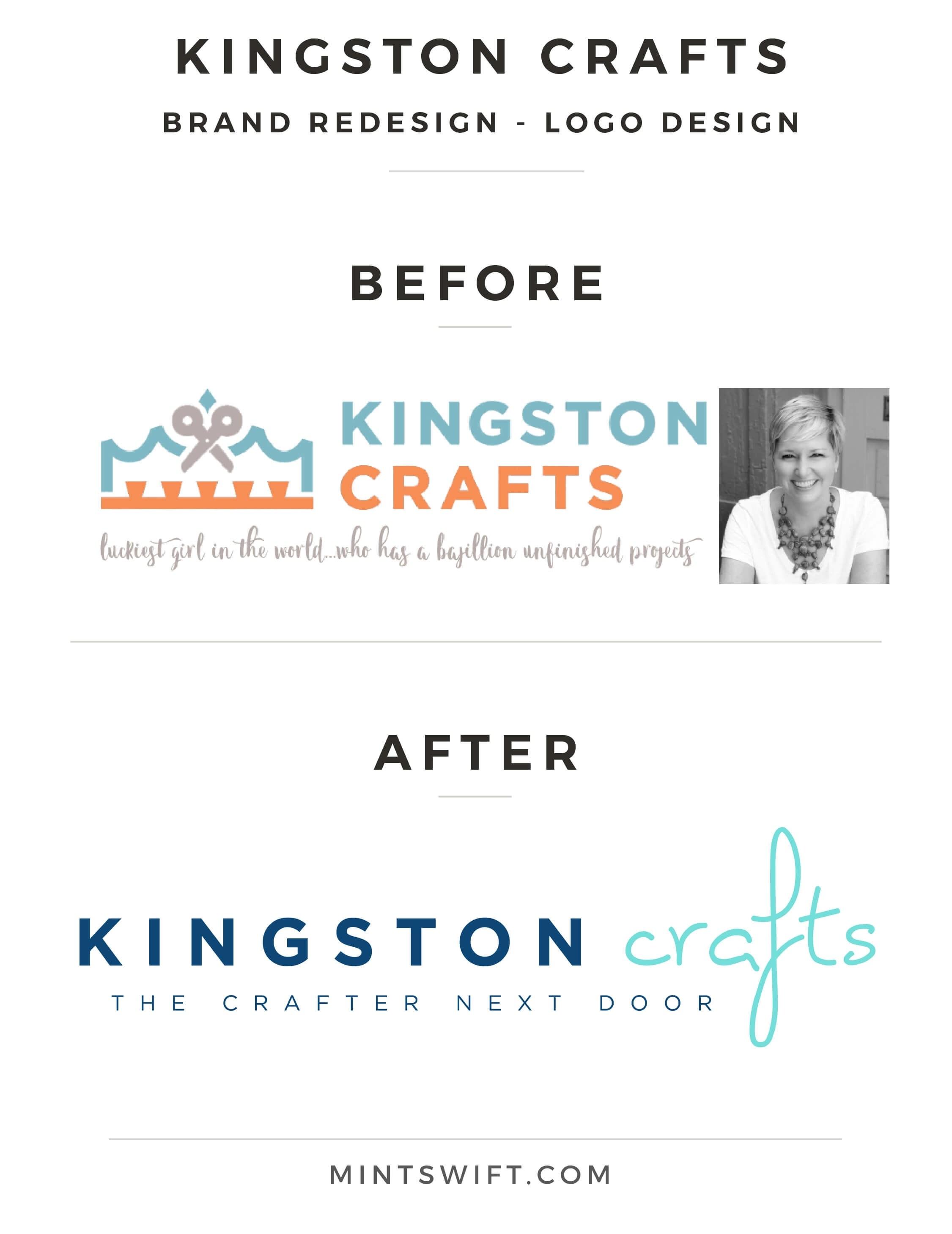 Kingston Crafts Brand Redesign Logo Design - MintSwift