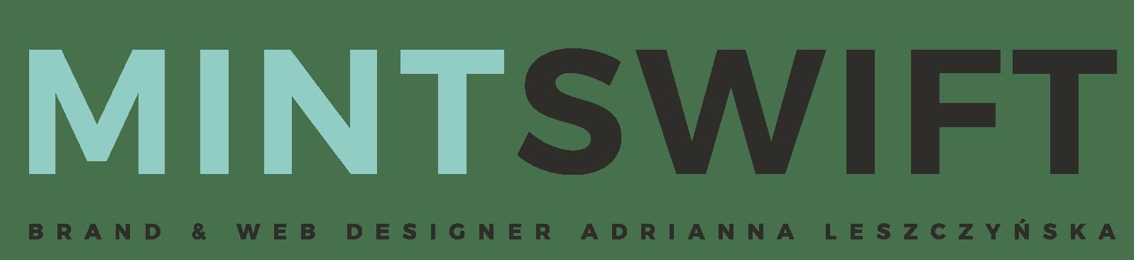 MintSwift - Brand & Web Designer Adrianna Leszczynska - Main Logo