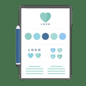 Brand identity design icon - Brand design package - MintSwift