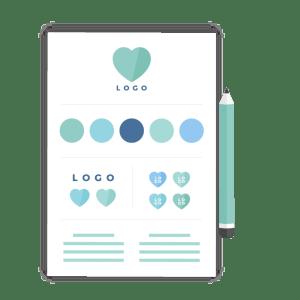 Brand identity design - icon - brand & website design package - MintSwift