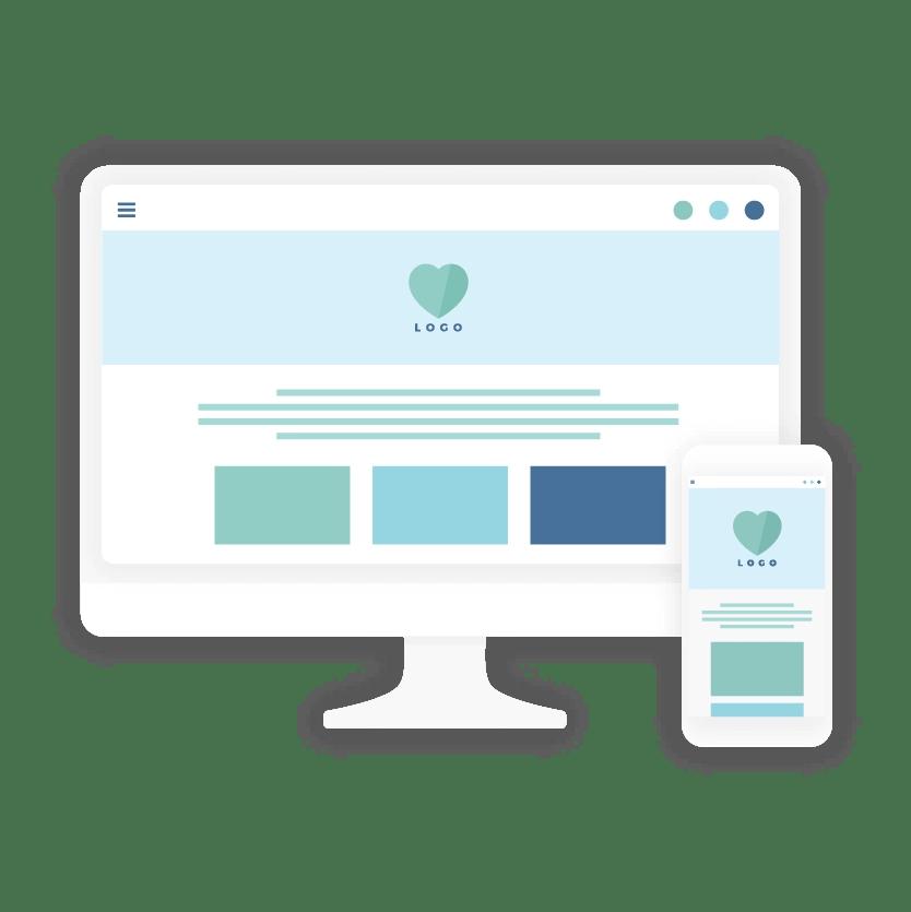 Website design & delivery - icon - brand & website design package - MintSwift