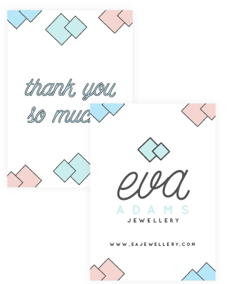 Thank you or Greeting cards design - brand collateral example - MintSwift
