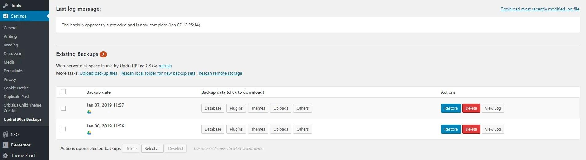 Finding UpdraftPlus Plugin in WordPress dashboard - How to Backup a WordPress Blog & Website - MintSwift