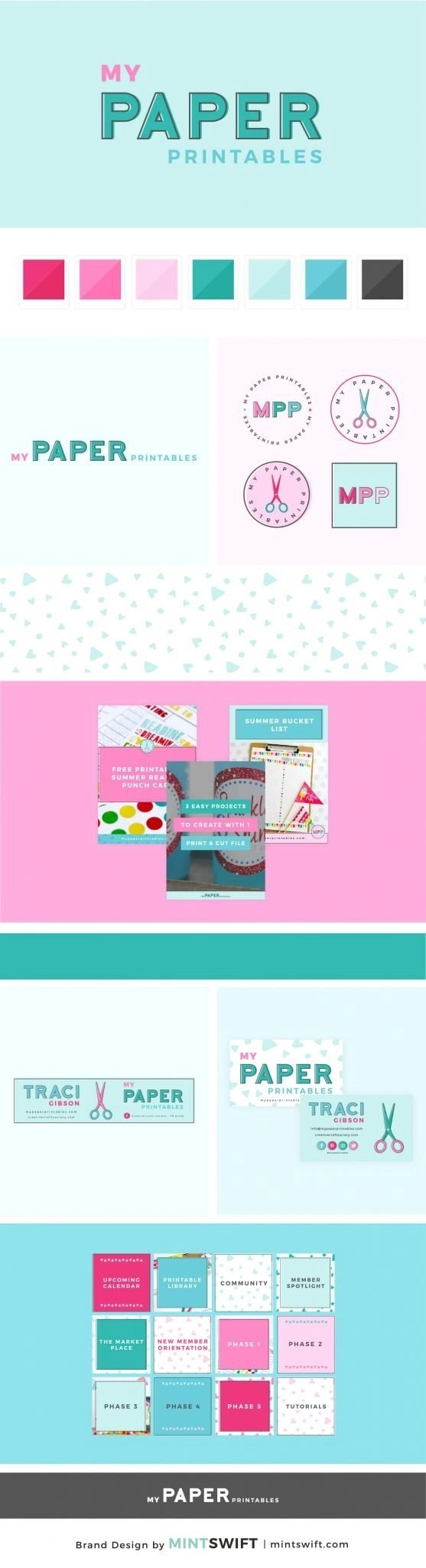 My Paper Printables - Brand Design Package - MintSwift