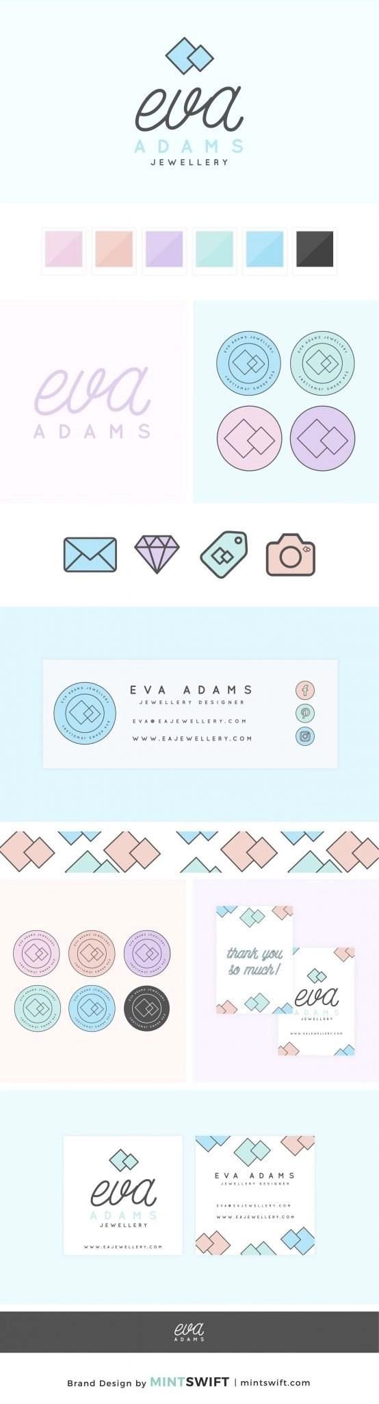 Eva Adams - Brand Design Package - MintSwift