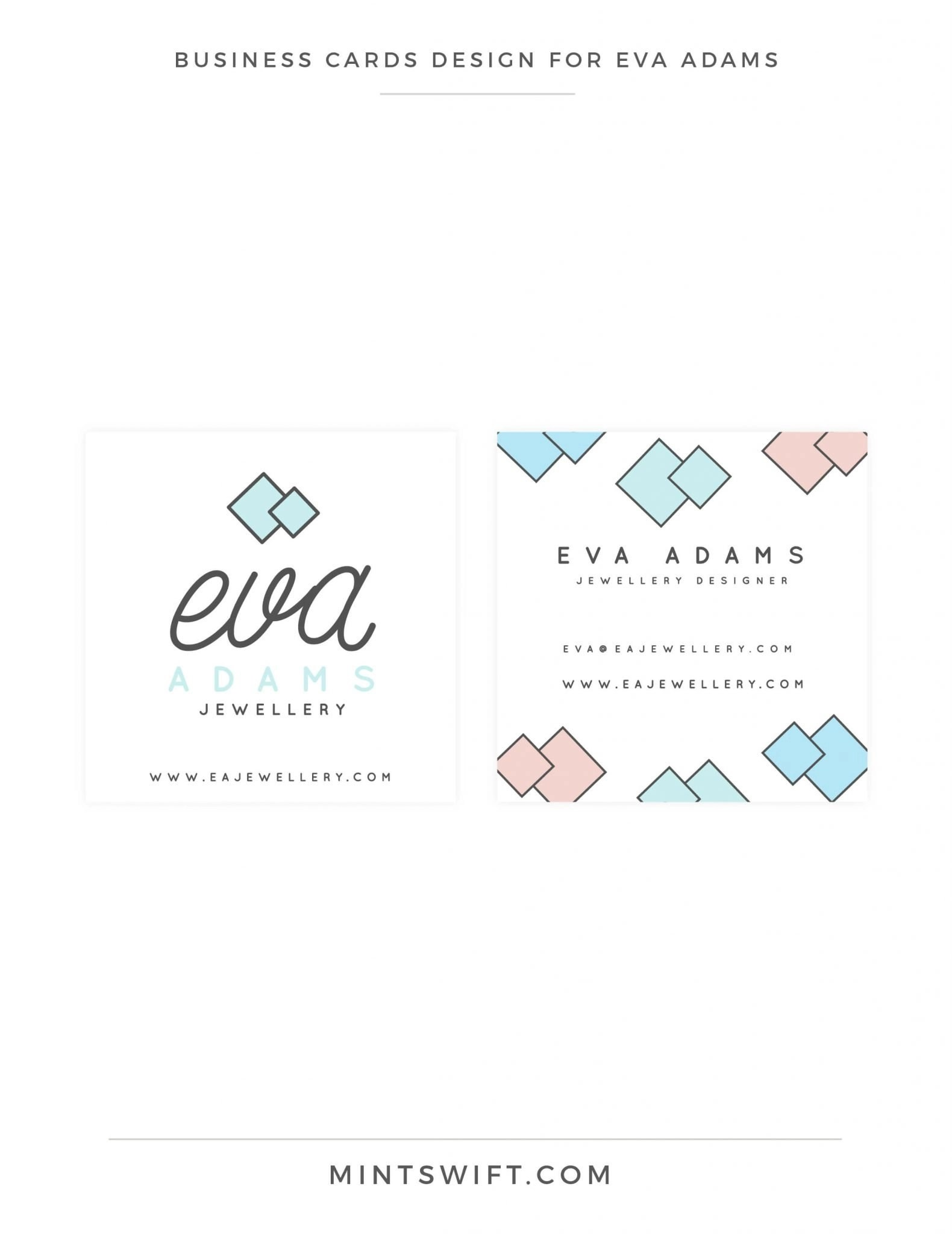 Eva Adams - Business cards design - MintSwift