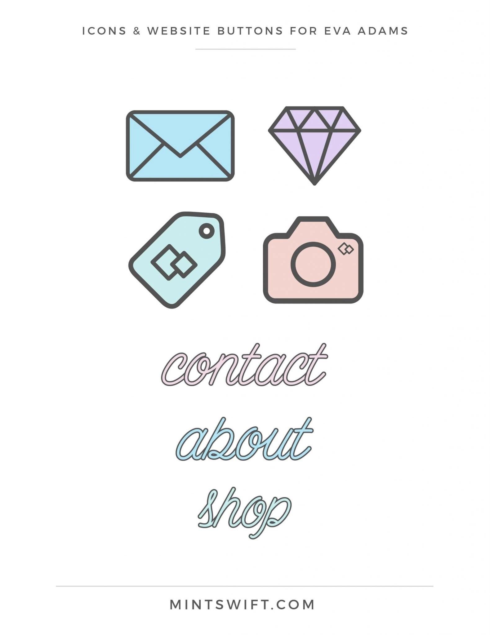 Eva Adams - Icons & Website buttons - MintSwift