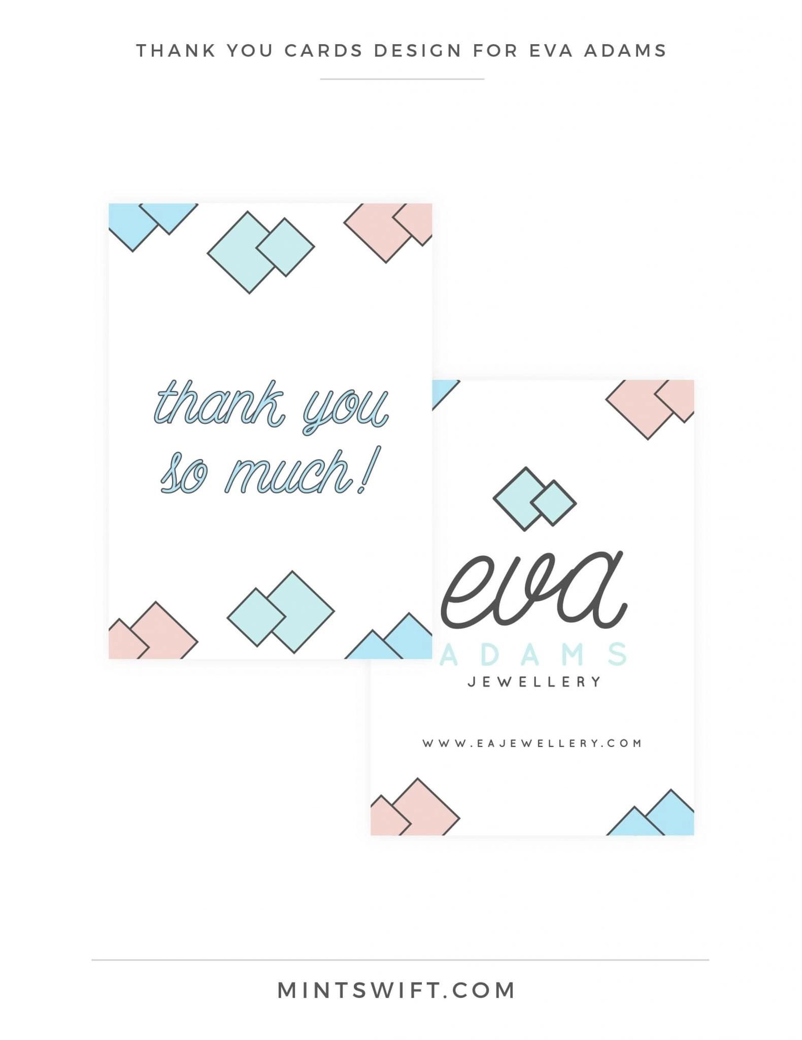 Eva Adams - Thank you cards design - MintSwift