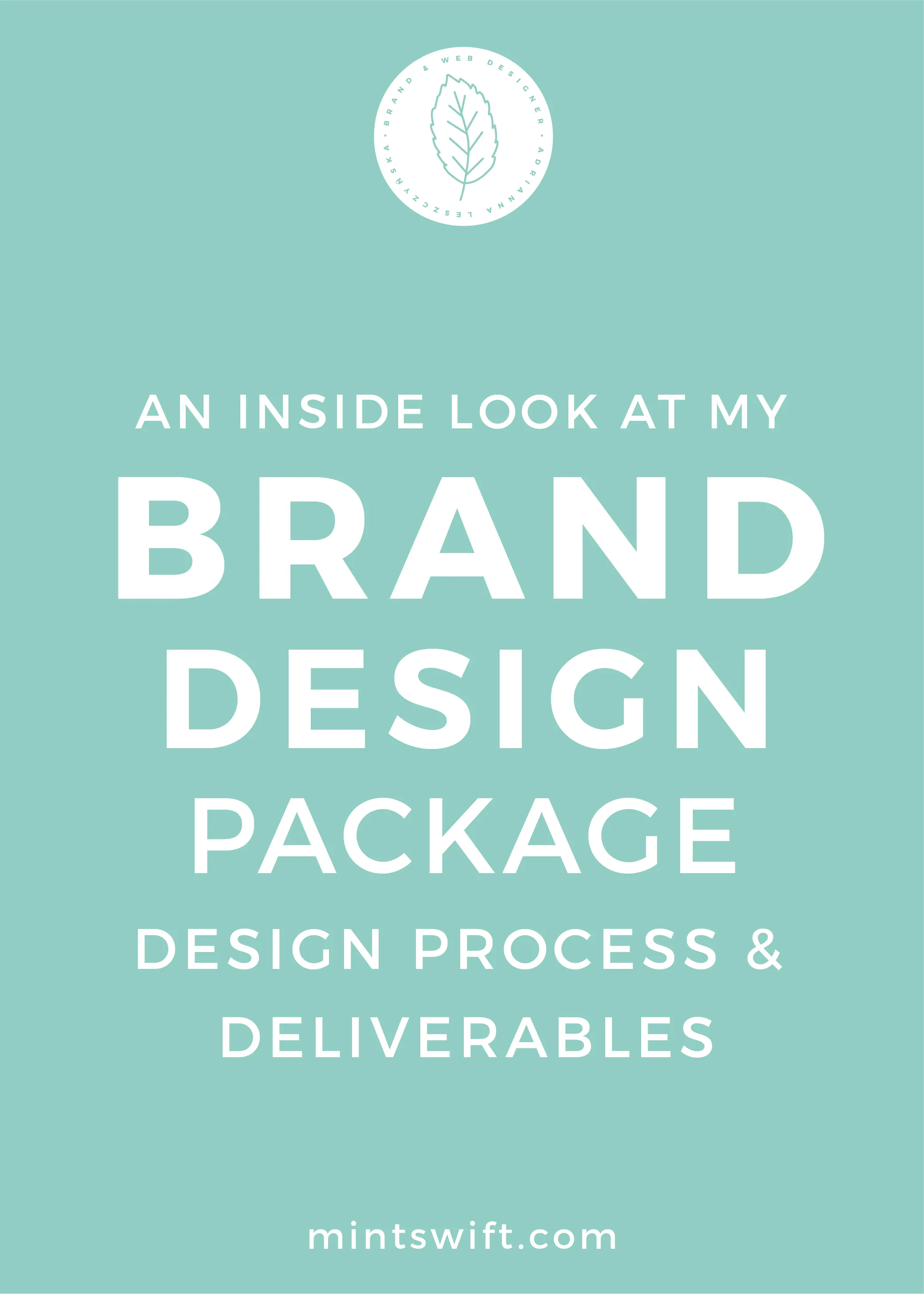 An Inside Look at My Brand Design Package Design Process & Deliverables - MintSwift
