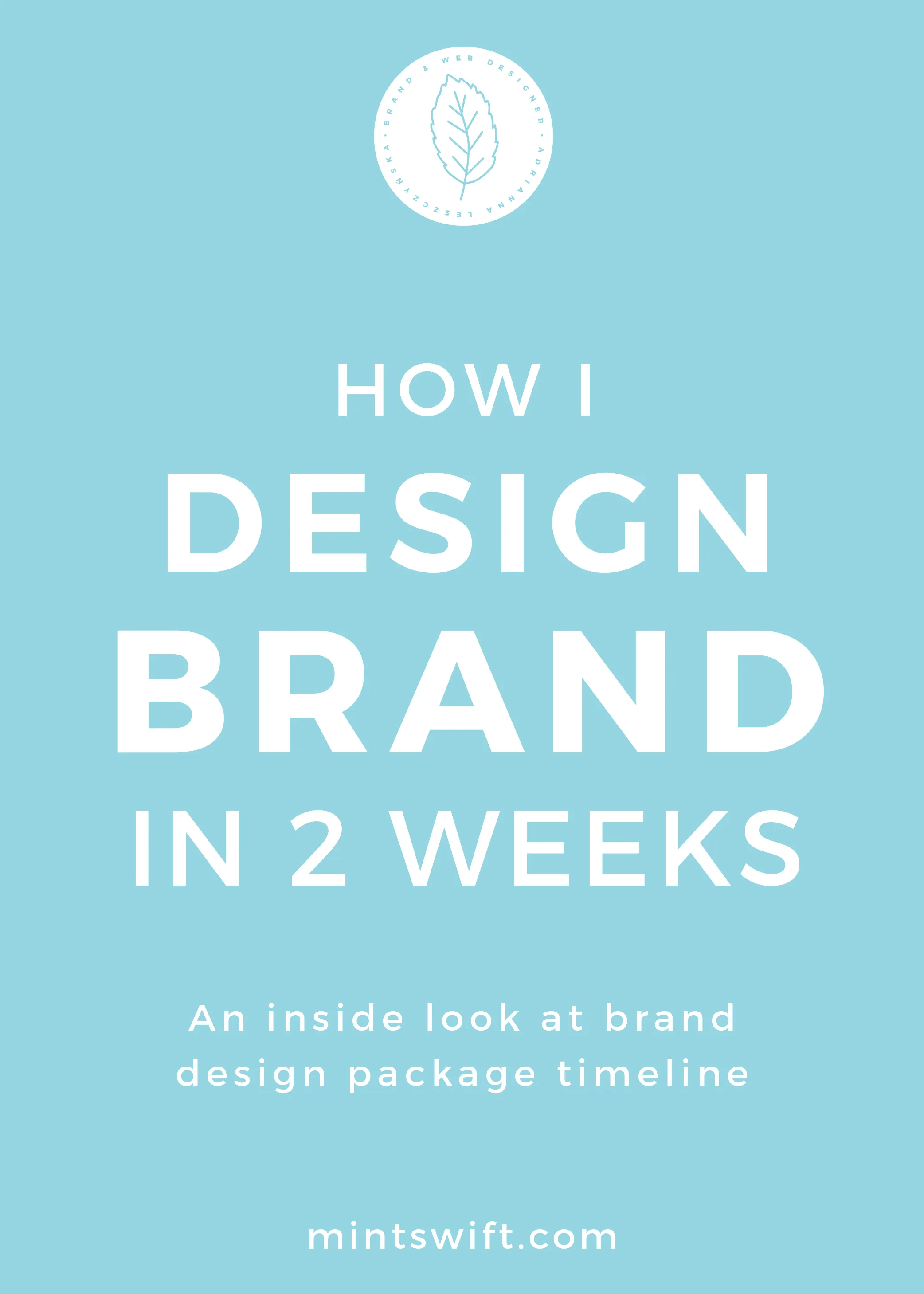 How I Design Brand in 2 weeks. An Inside Look at Brand Design Package Timeline - MintSwift