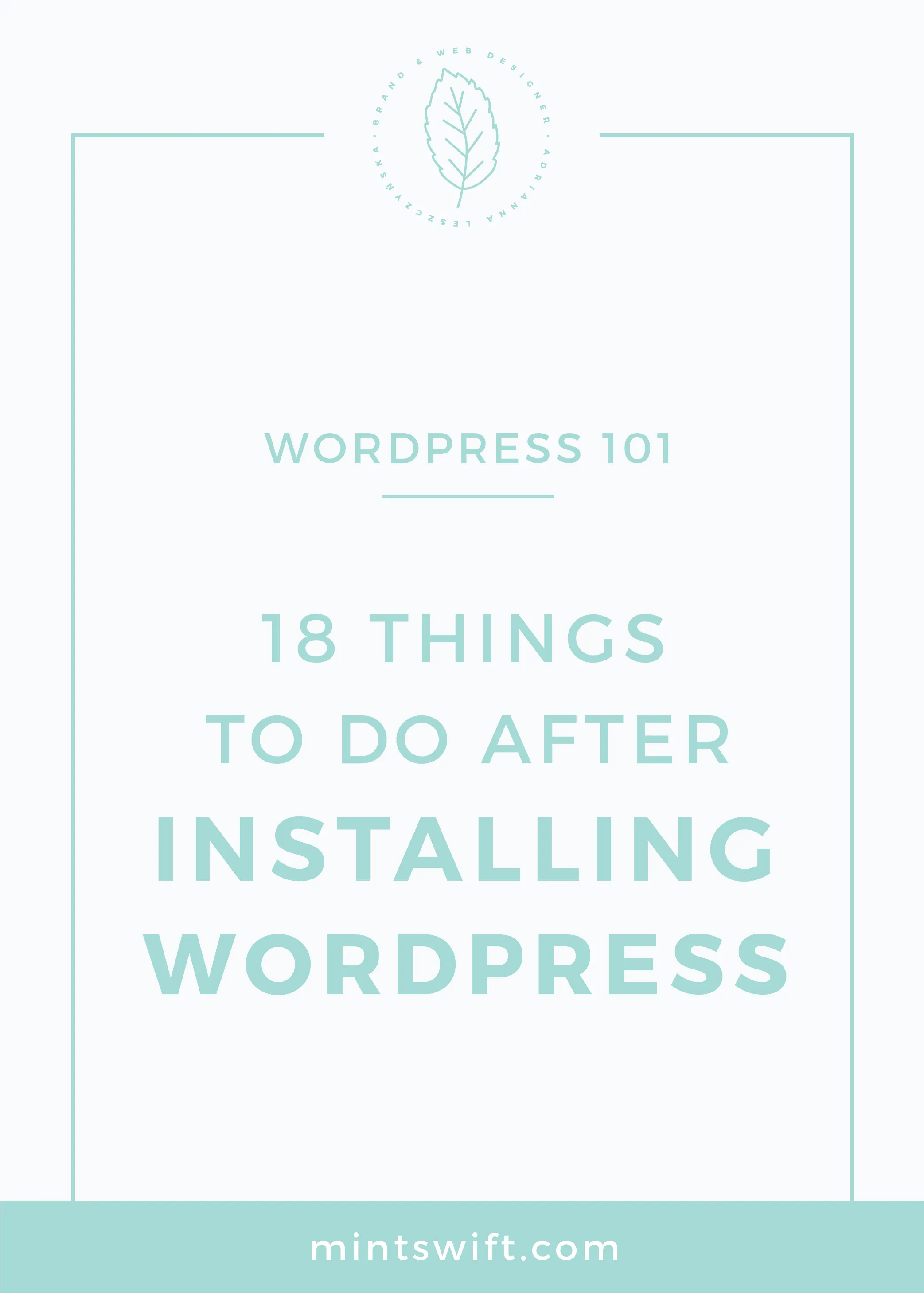 18 Things to Do After Installing WordPress MintSwift