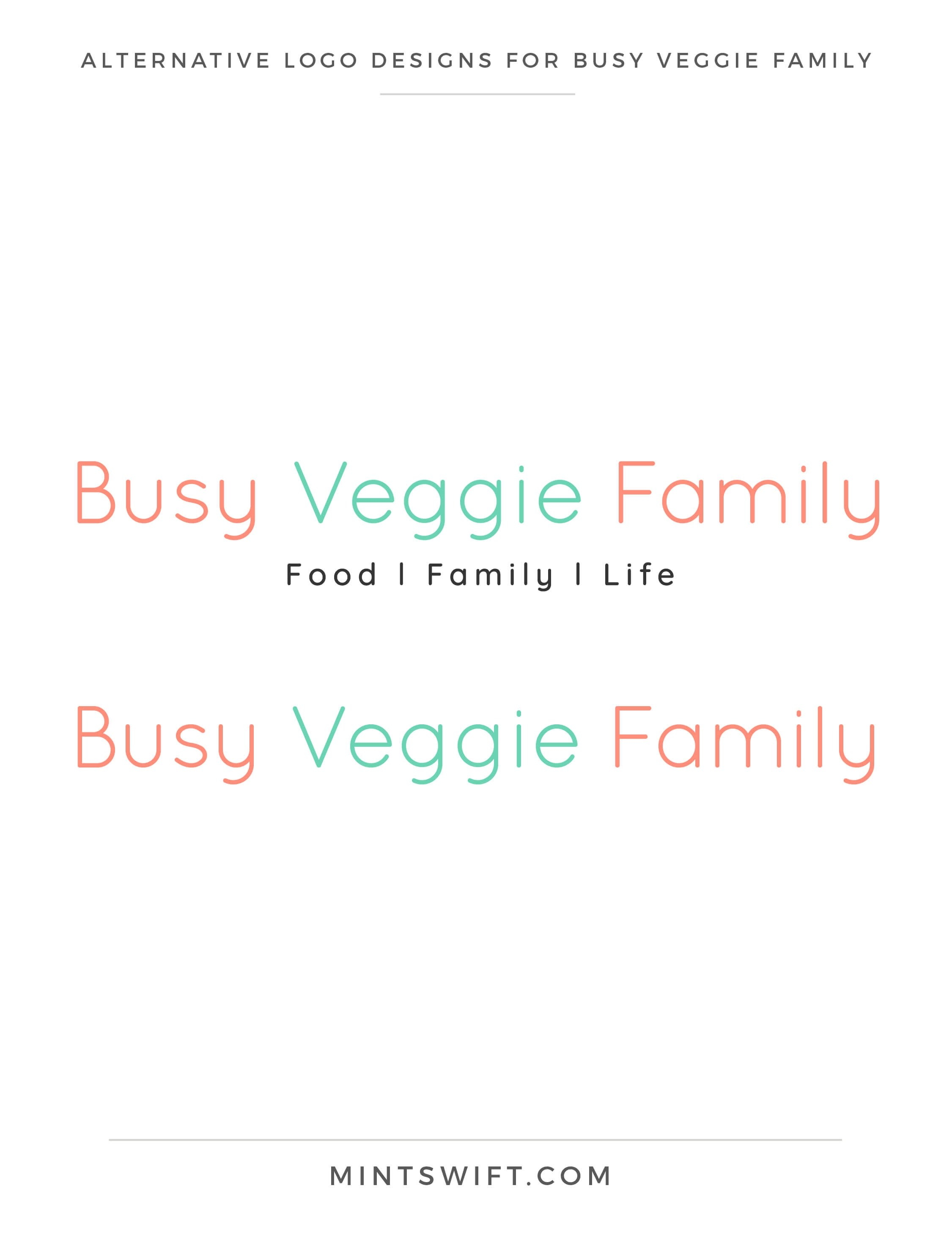 Busy Veggie Family - Alternative Logo Designs - Brand & Website Design Package - MintSwift