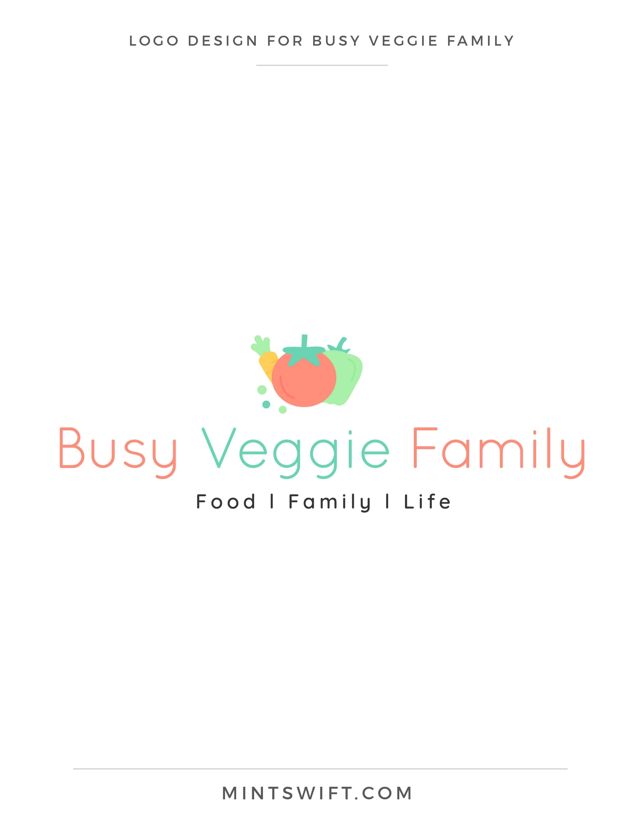 Busy Veggie Family - Logo Design - Brand & Website Design Package - MintSwift