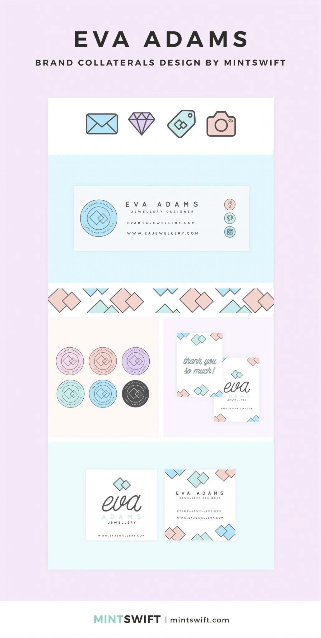 Eva Adams - Brand Collaterals Design - MintSwift - Adrianna Leszczynska