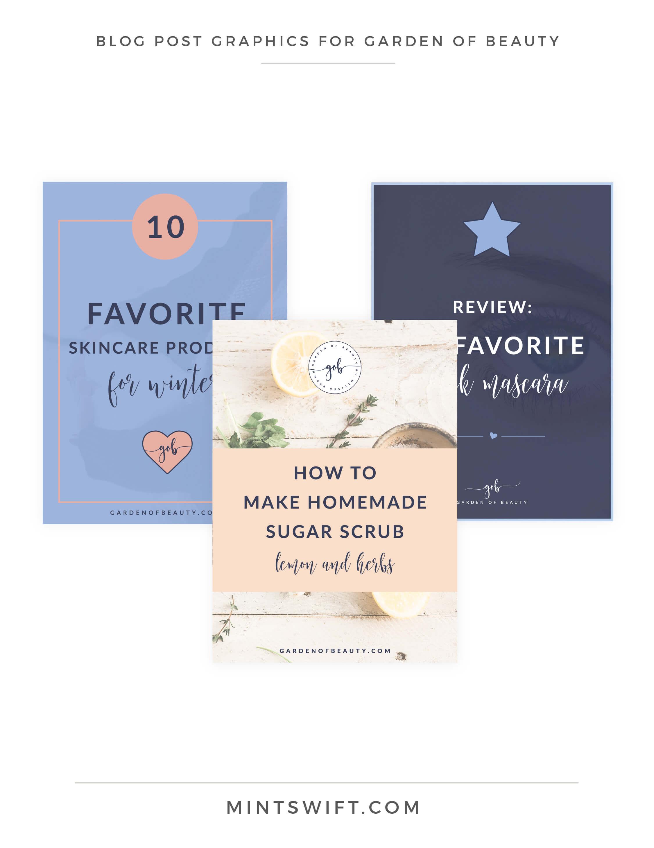 Garden of Beauty - Blog Post Graphics - Brand Design Package - MintSwift