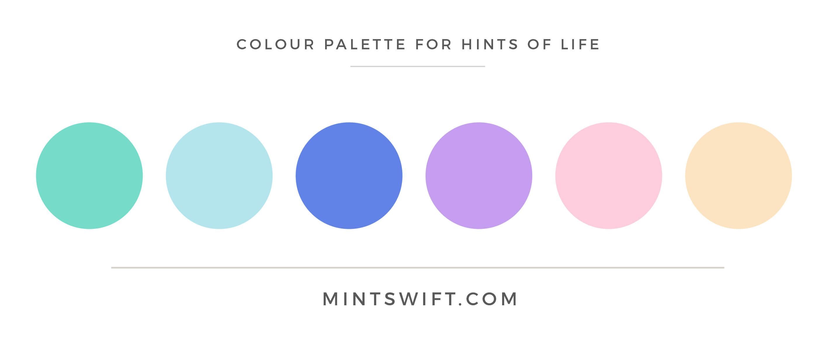 Hints of Life - Colour Palette - Brand Design Package - MintSwift