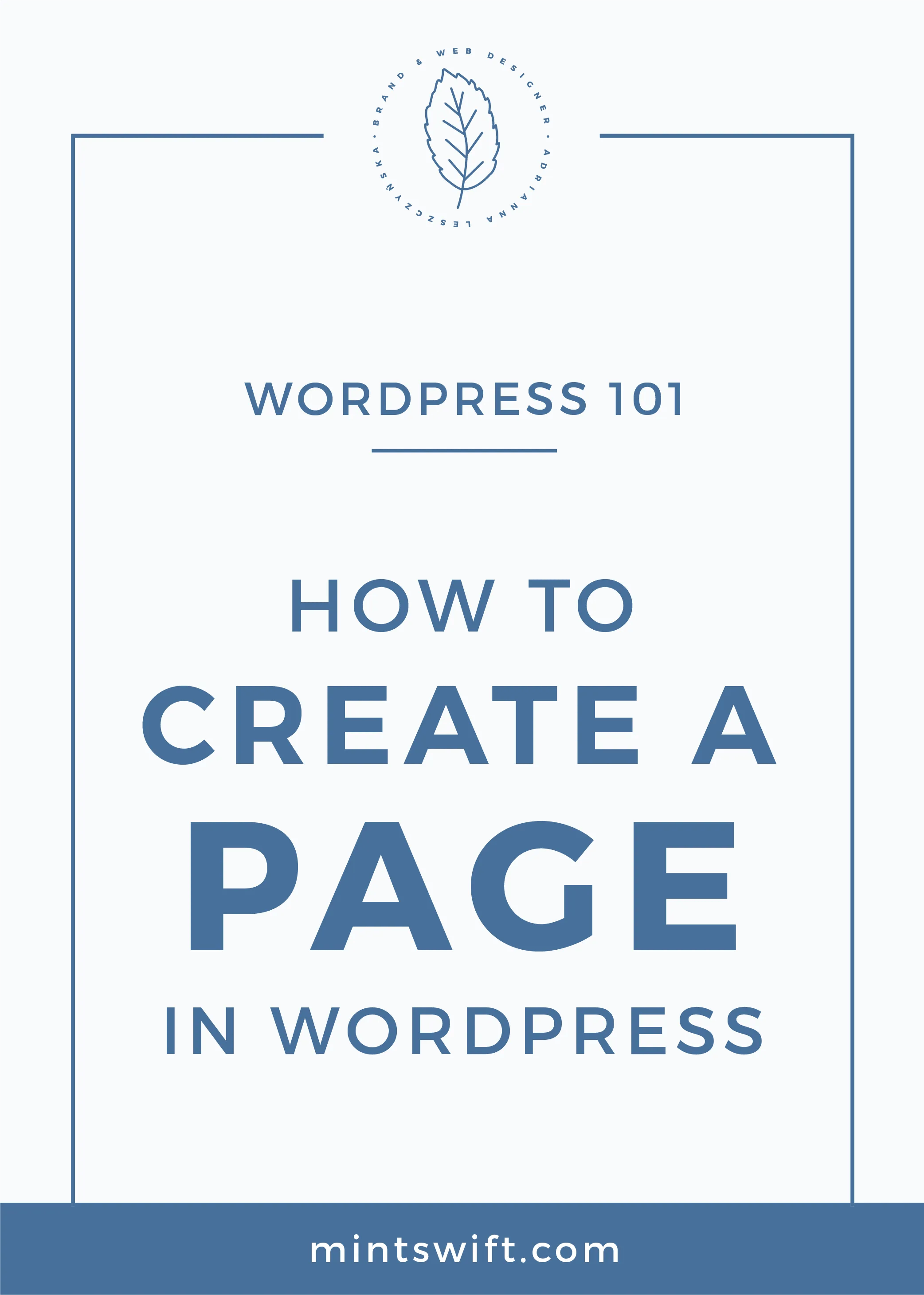 How to Create a Page in WordPress MintSwift