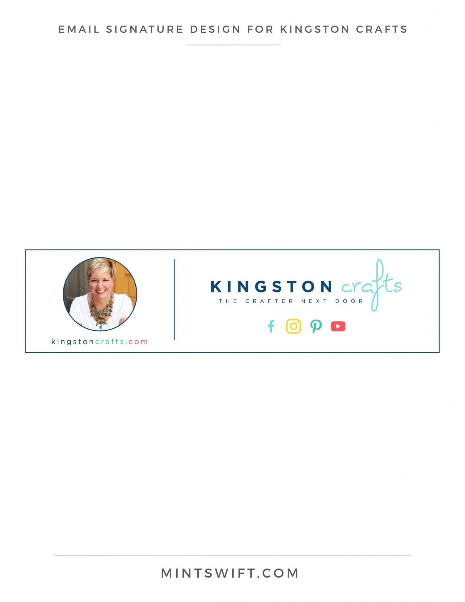 Kingston Crafts - Email Signature Design - Brand Design Package - MintSwift