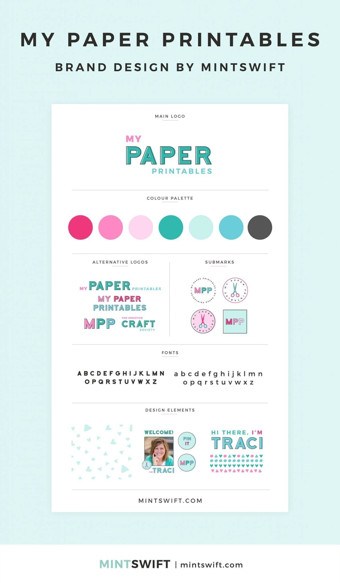 My Paper Printables - Brand Design - MintSwift - Adrianna Leszczynska