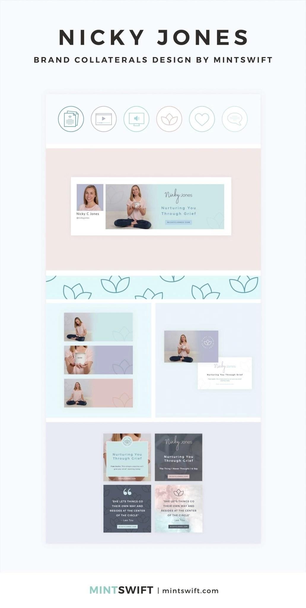 Nicky Jones - Brand Collaterals Design - MintSwift - Adrianna Leszczynska