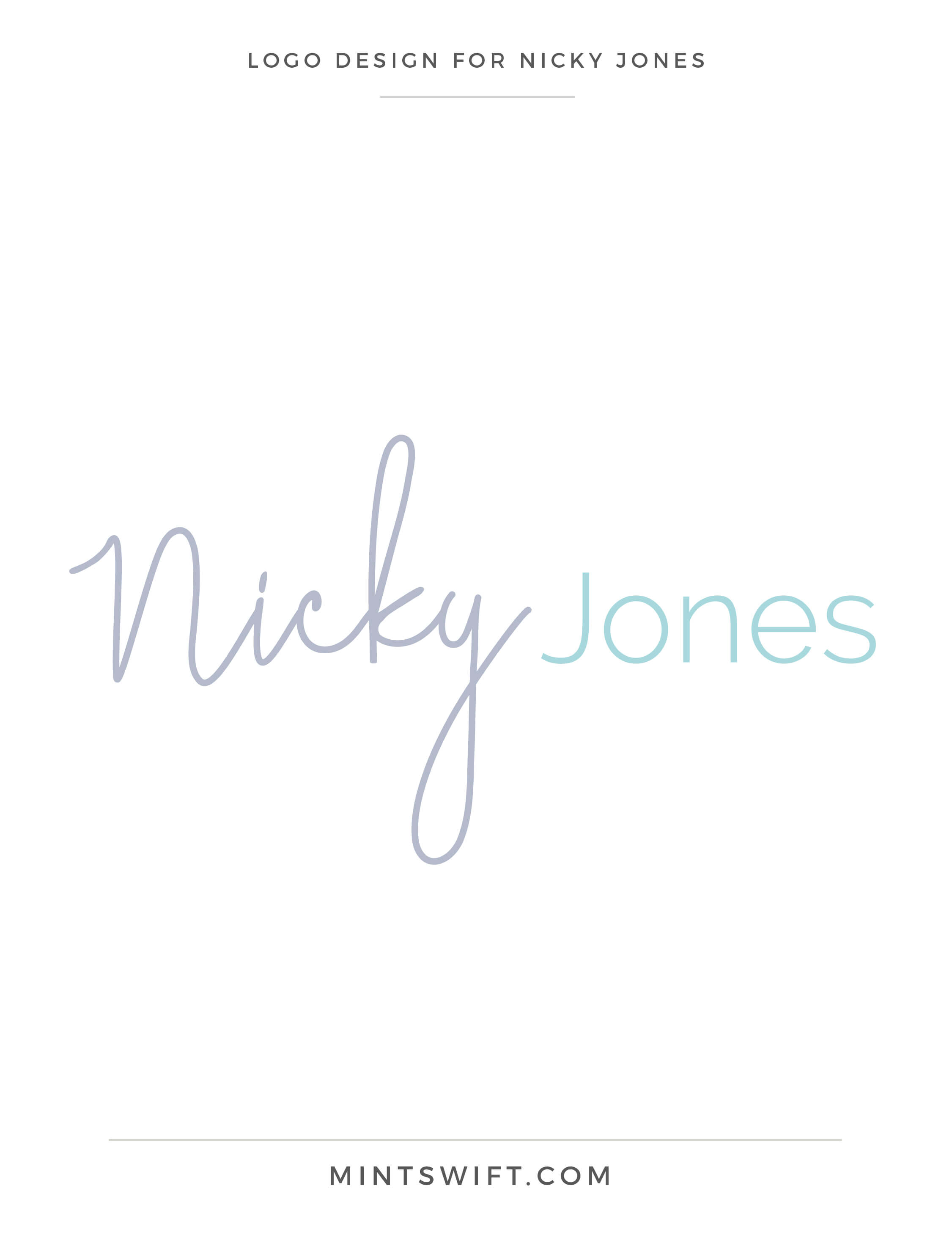 Nicky Jones - Logo Design - Brand Design Package - MintSwift