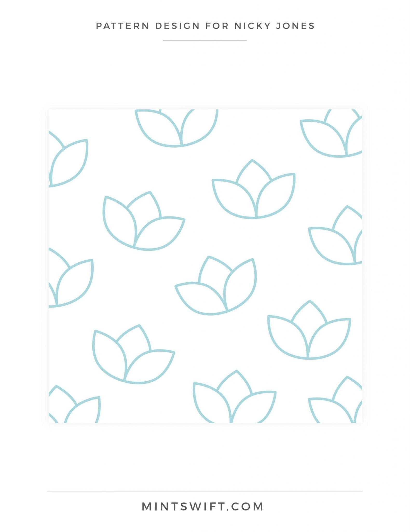 Nicky Jones - Pattern Design - Brand Design Package - MintSwift