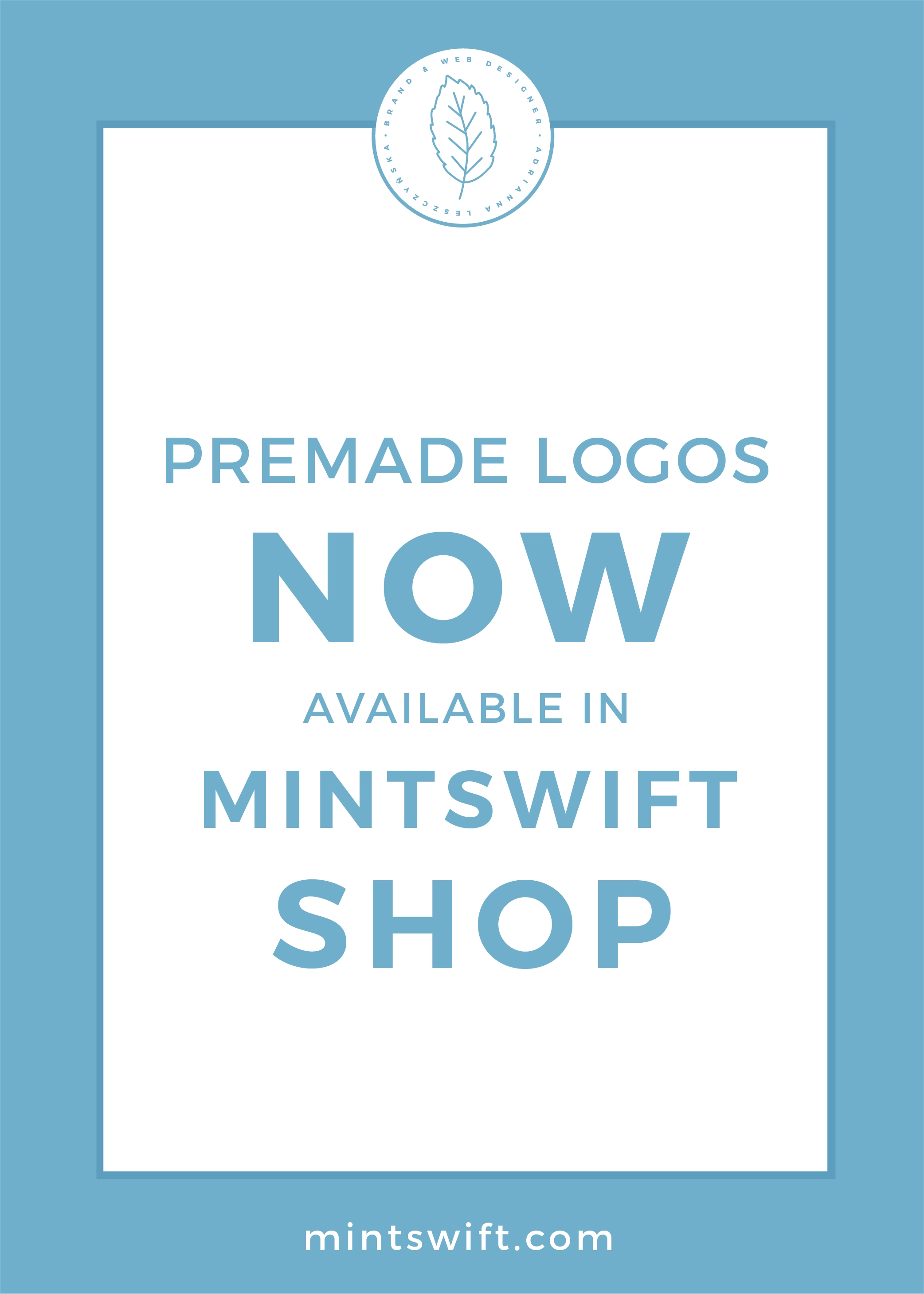 Premade Logos Now Available in MintSwift Shop by MintSwift