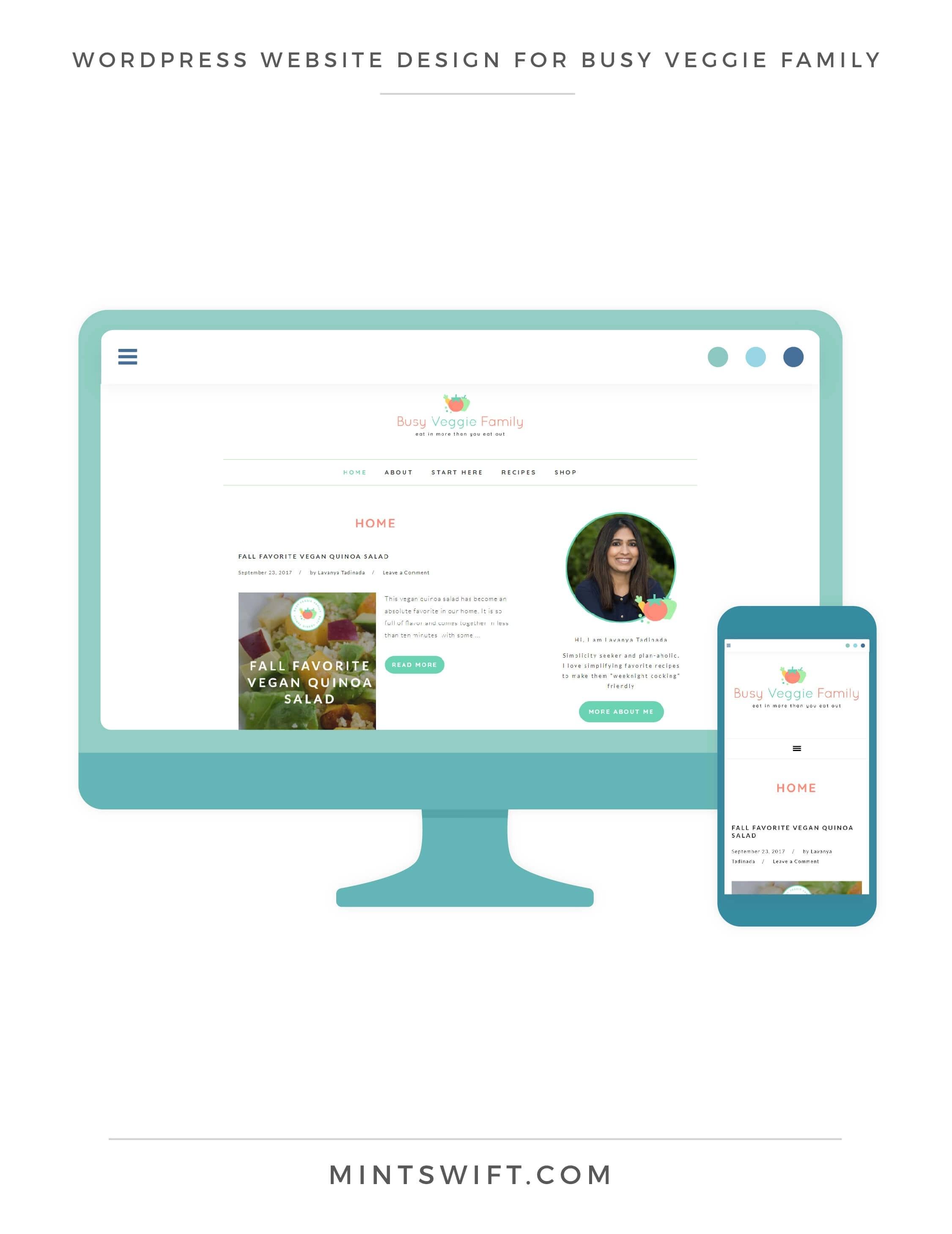 WordPress Website Design for Busy Veggie Family - MintSwift