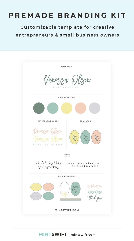Vanessa Olson Premade Branding Kit