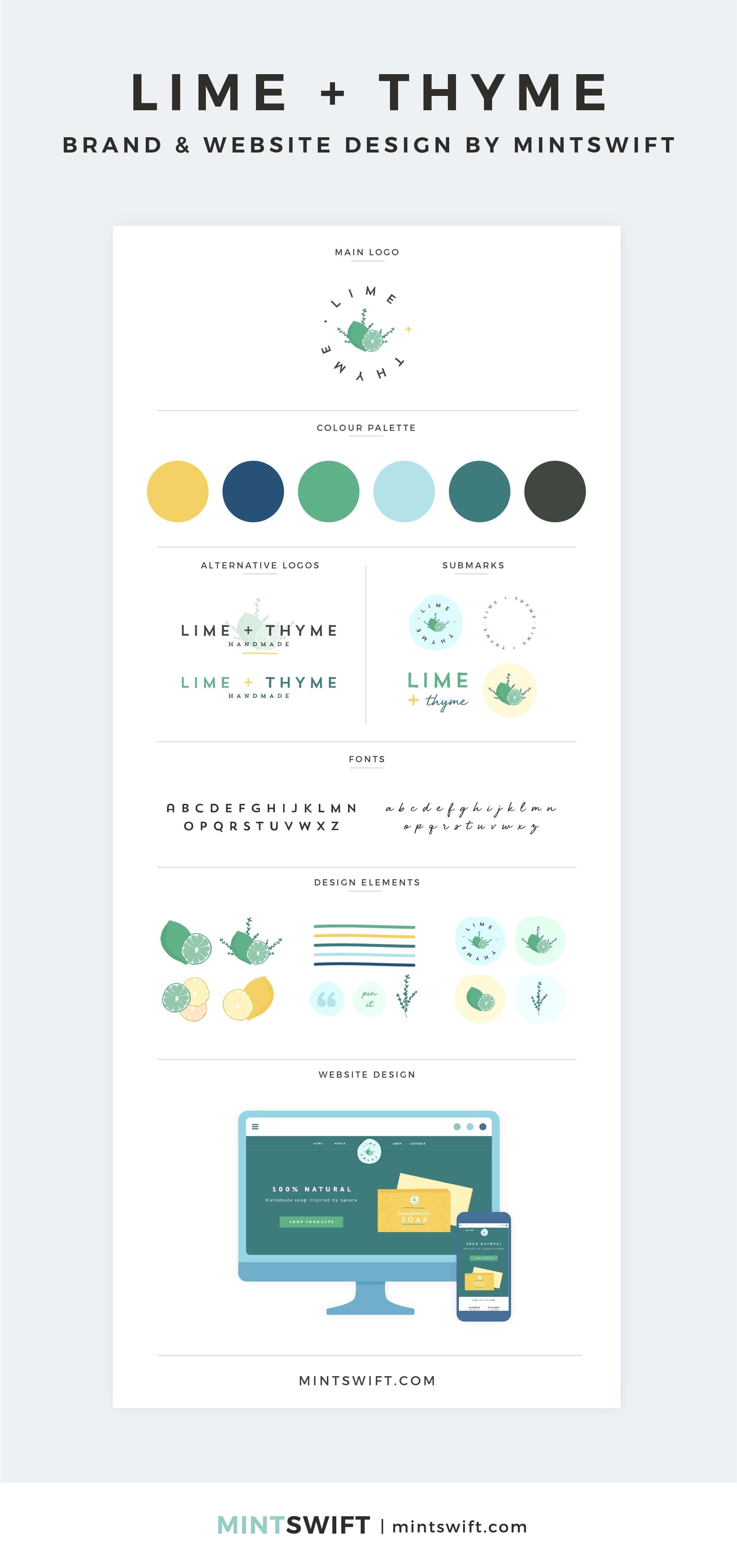 Lime + Thyme - Brand & Website Design by MintSwift - Adrianna Leszczynska