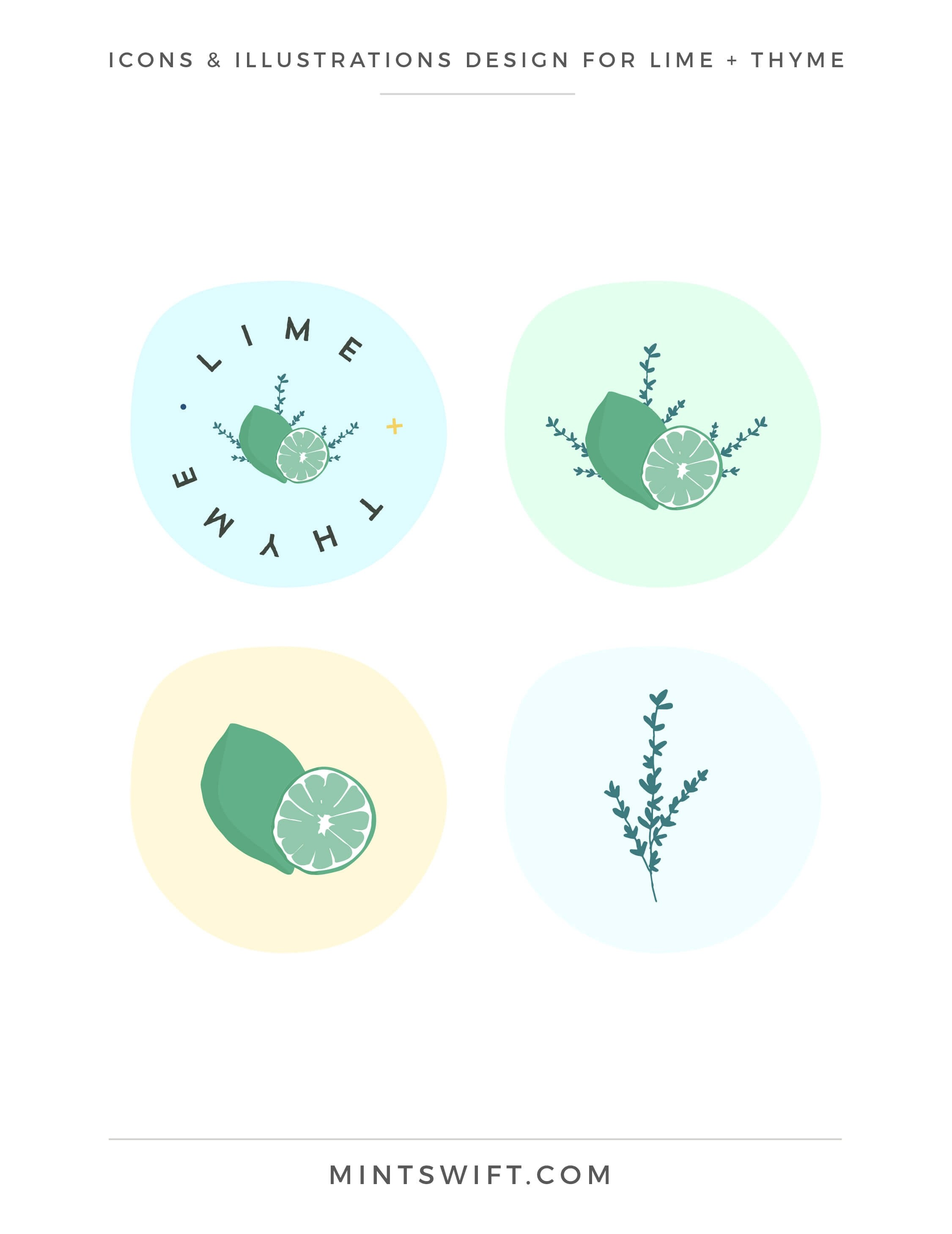 Lime + Thyme - Icons & Illustrations Design - Brand & Website Design - MintSwift