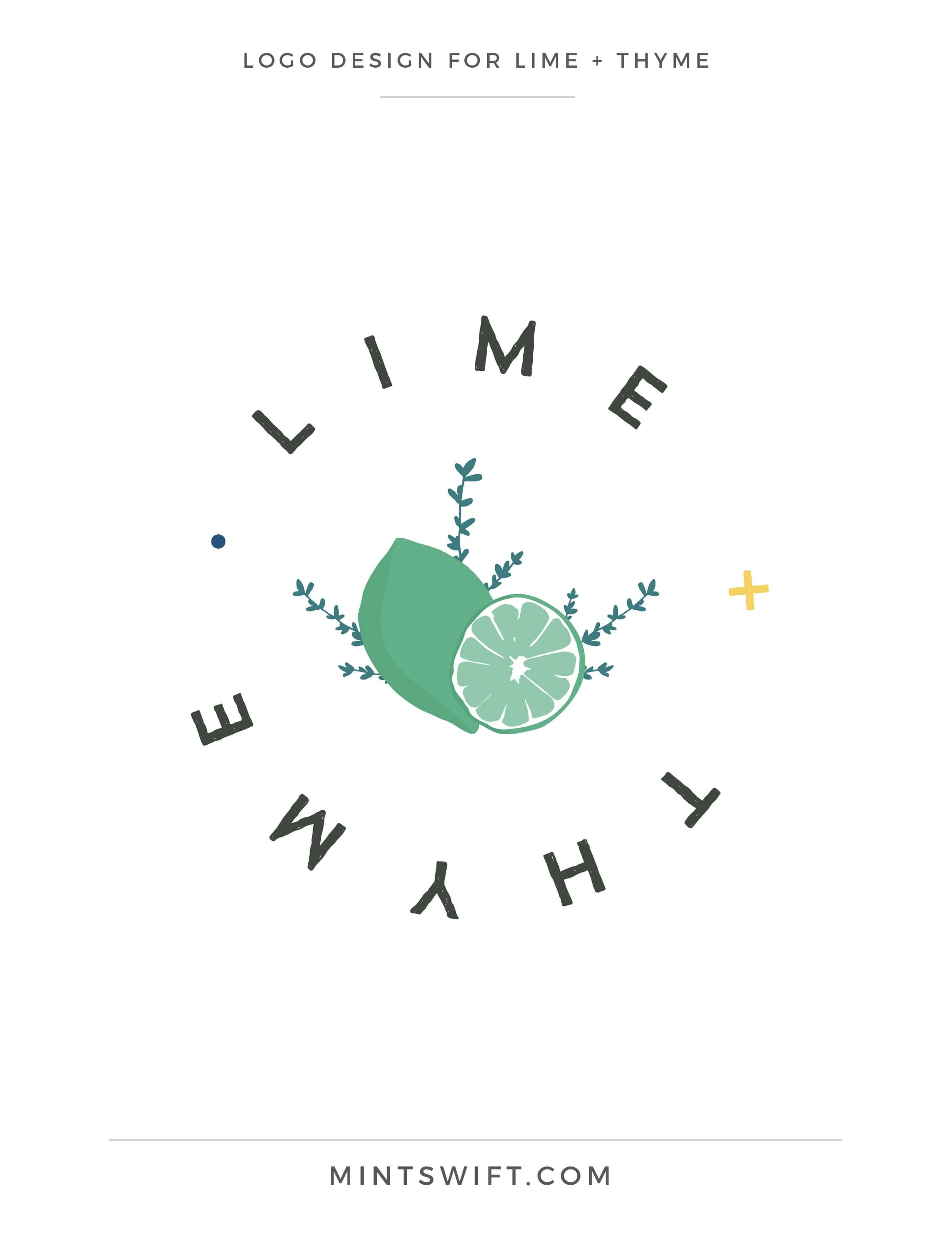 Lime + Thyme - Logo Design - Brand & Website Design - MintSwift