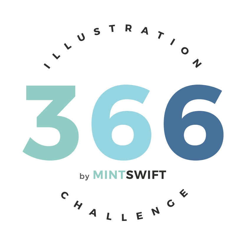 366 Days of Illustration Challenge by MintSwift - submark Logo