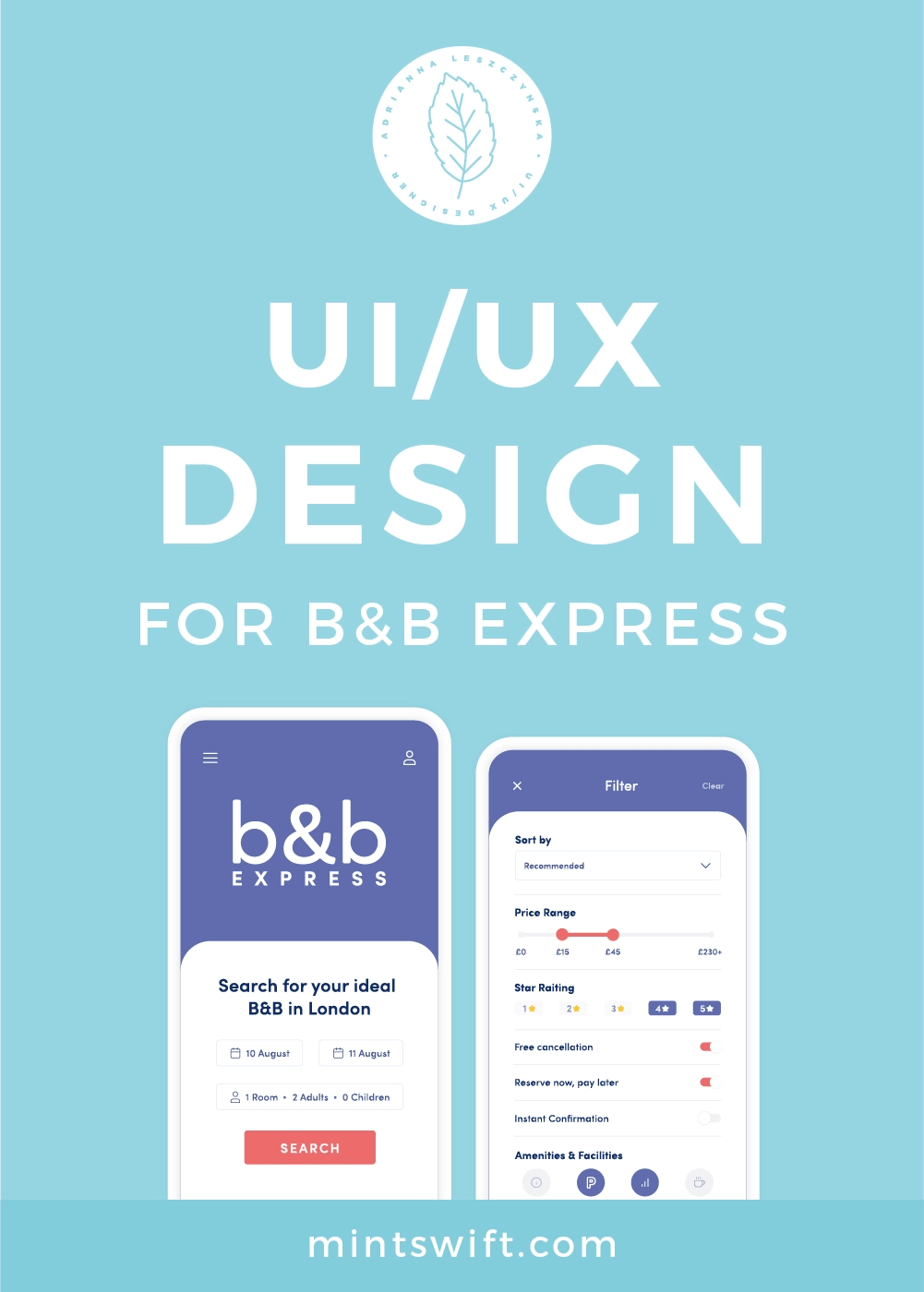 UI/UX Design for B&B Express App